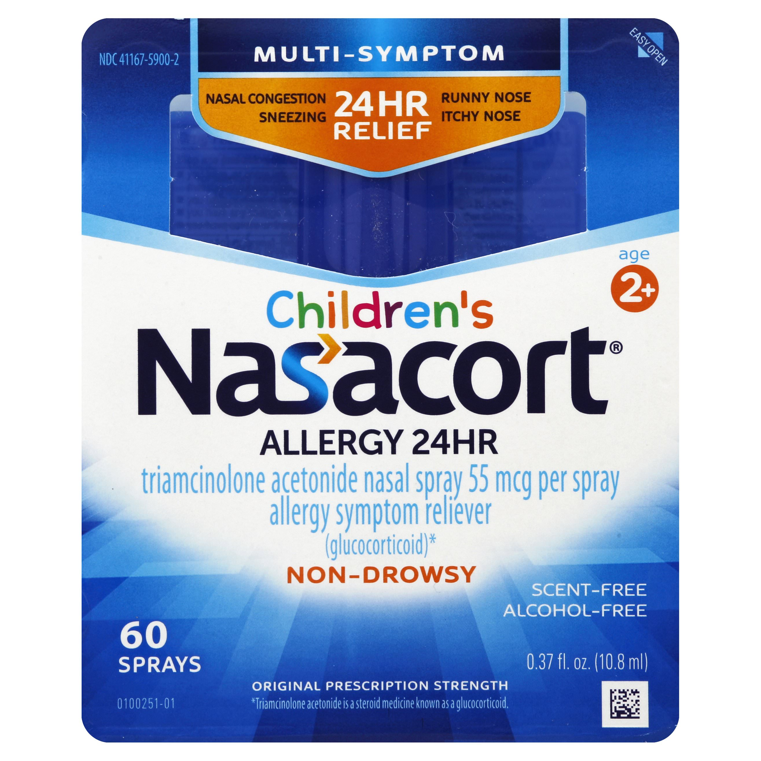 Nasacort Children's Multi-Symptom 24hr Nasal Allergy Relief Spray,60ct