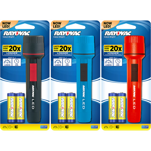 Rayovac Value Bright 2AA LED Flashlight