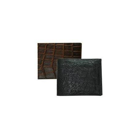 Hermes Crocodile Embossed Leather (BCO511ZC Bi-Fold Crocodile Embossed Leather Wallet Assortment Black/Brown)