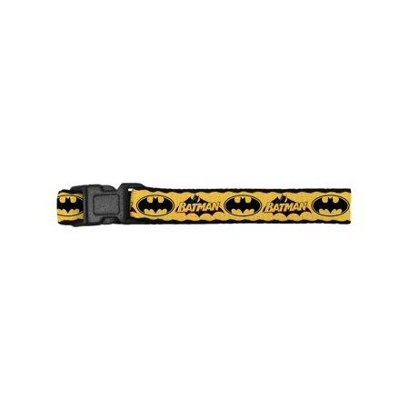 Batman DC Comics Superhero Yellow Back Name & Shield Clip Bracelet (Female Superheroes Names)