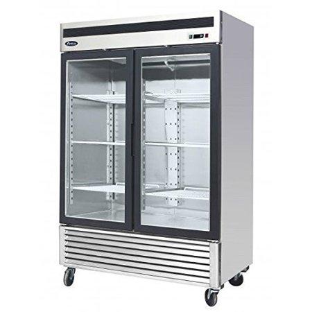 Atosa Usa Mcf8707 Series 55 Inch Glass Two Door Merchandiser Upright Refrigerator