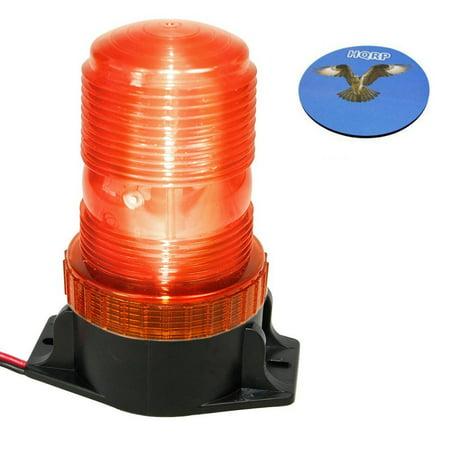 HQRP 360 Degrees 12-110V 30-LED Mini Beacon Amber Flashing Strobe Emergency Warning Light Home / Vehicle Safety + HQRP