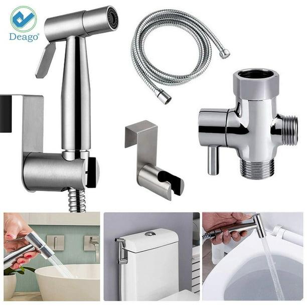 Multi-Purpose Bathroom Bidet Stainless Steel Toilet Sprayer kit Ideal for The Shower Set for Personal Hygiene Hand Bidet Spray
