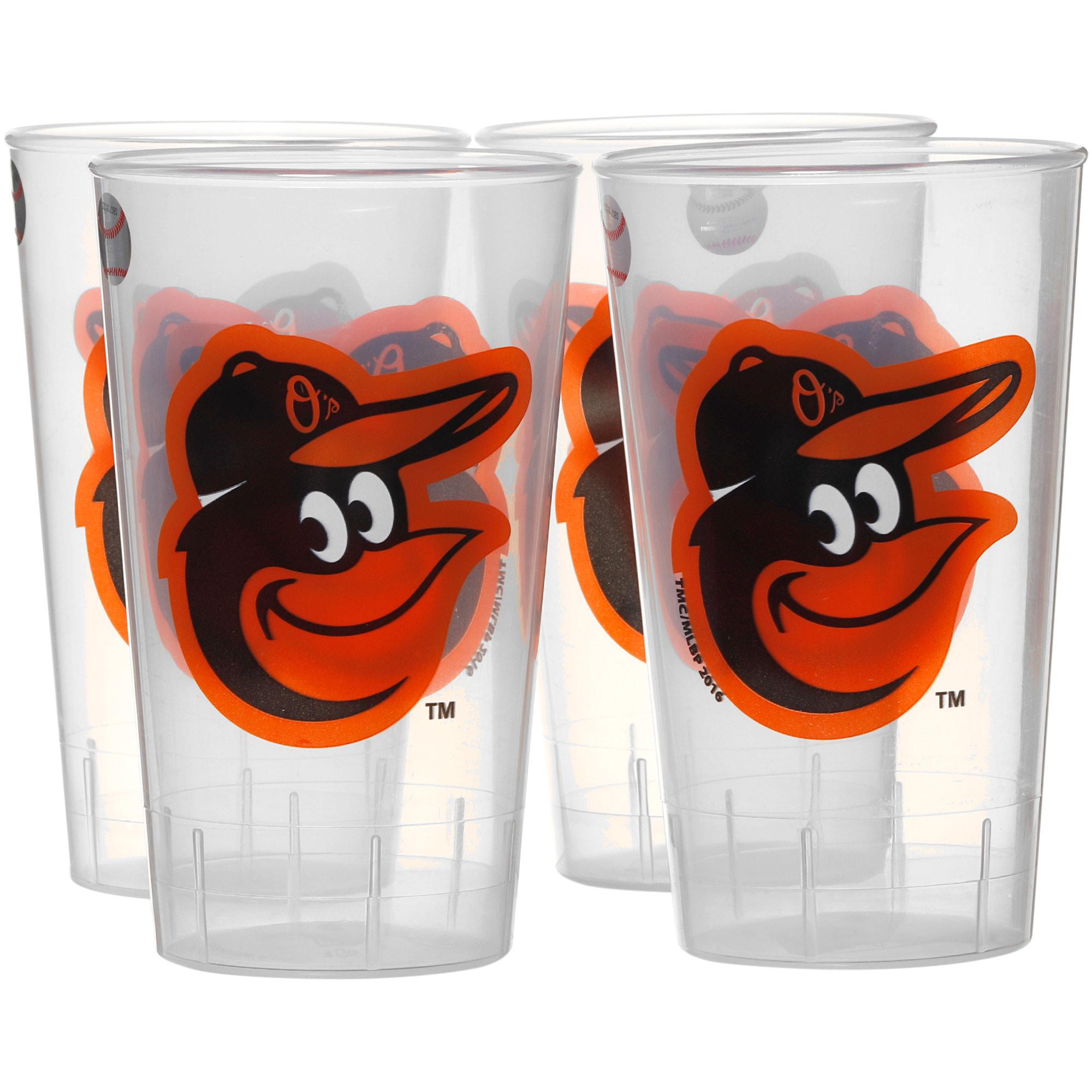 Baltimore Orioles 16oz. Acrylic Tumblers 4-Pack Set - No Size