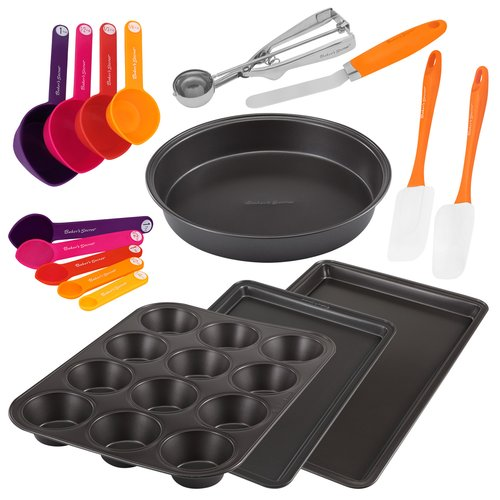 Baker's Secret 17-Piece Metal Bakeware and Gadget Set
