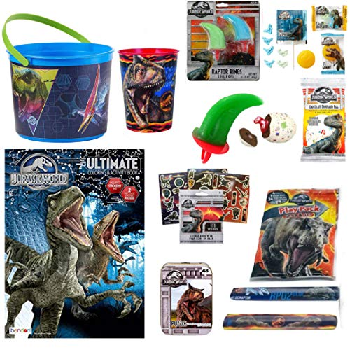 Jurassic Park World Fallen Kingdom Coloring Book Toy Set Of 10 Trex Raptor  Activity Crayons Dinosaur Candy Rings Pops Basket Stocking Stuffer For  Children Ages 410 - Walmart.com - Walmart.com