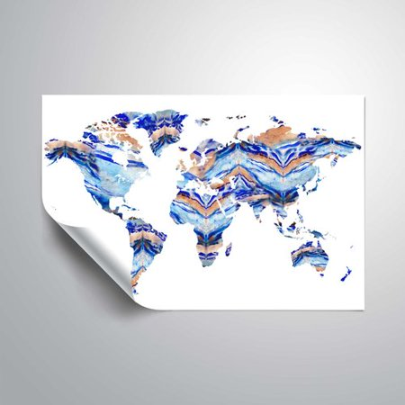 Wrought studio gillham organic blue watercolor world map wall decal wrought studio gillham organic blue watercolor world map wall decal gumiabroncs Choice Image