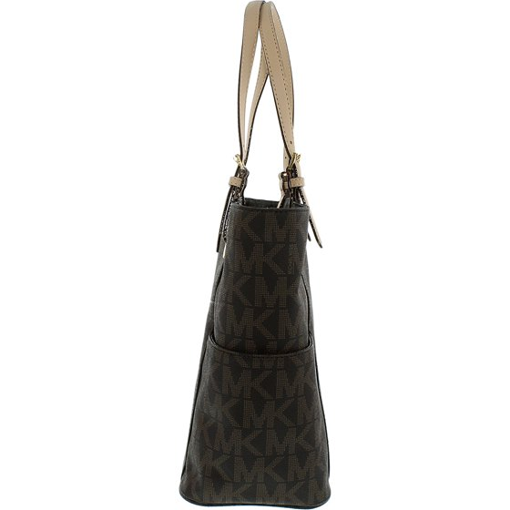 Michael Kors Jet Set Signature Logo Tote in Brown - 30S11TTT4B-200. Country  of Origin  Imported 09316ec42c81b