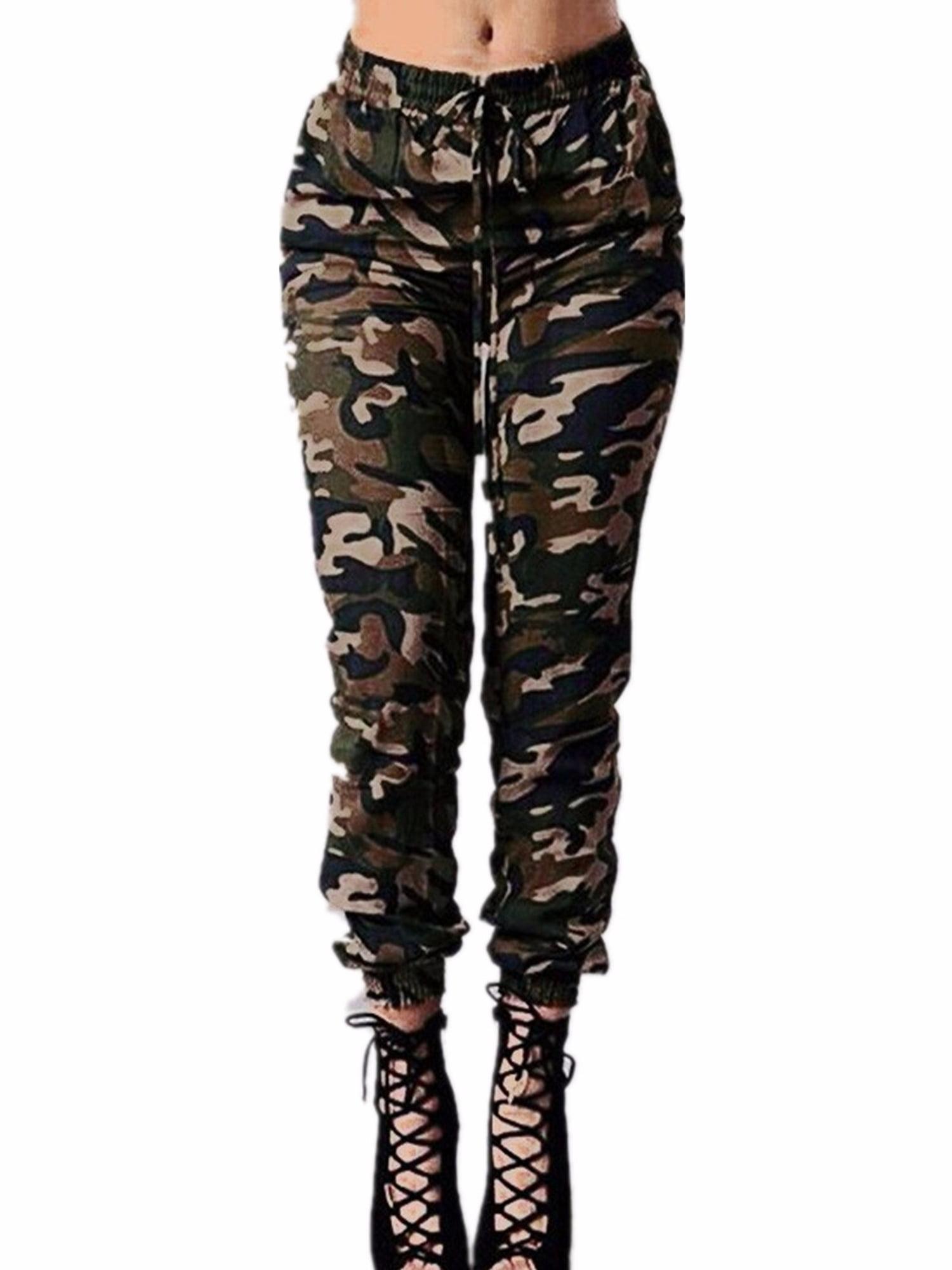 Women Military Pants Camo Cargo Combat Casual Long Work Trouser