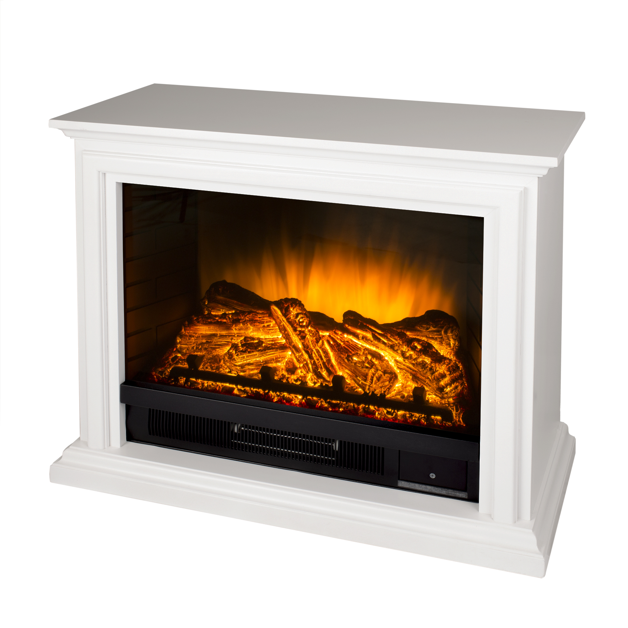 Pleasant Hearth Sheridan Mobile Infrared Fireplace - White