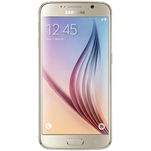 "Samsung Galaxy S6-Gold Platinum 5.1"" Touch Screen-16.0 Megapixel Camera-Android 5.0.2"