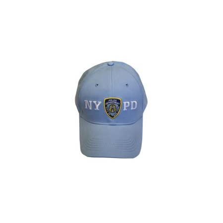 dc7c40d61 NYPD Baseball Hat New York Police Department Light Blue & White One Size -  Walmart.com