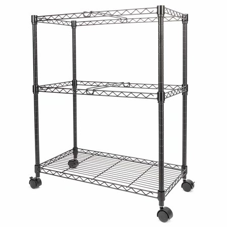 2 Tier Cart (Clearance! Two Tier Metal Rolling Mobile File Cart for Letter Size Office Supplies)