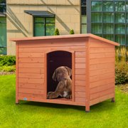 Coziwow Large Wooden Dog House Pet Shelter Cage Doggie Home Weather Resistant Outdoor Orange