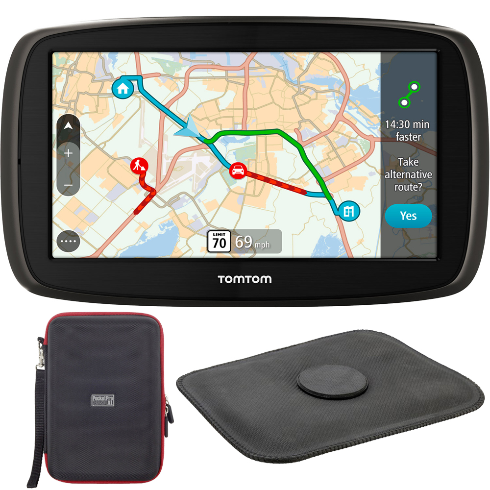 TomTom GO 60S Automotive GPS Navigation Device (1FC6.019.00) + PocketPro XL Hardshell Case for 7-Inch Tablets +... by TomTom