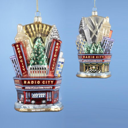Pack of 6 NYC Radio City Music Hall Rockettes Glass Christmas Ornaments 5
