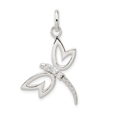 925 Sterling Silver Cubic Zirconia Cz Dragonfly Pendant Charm Necklace Insect Gifts For Women For Her