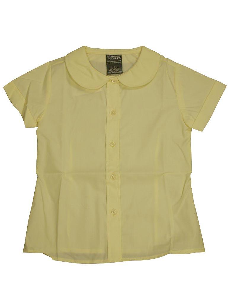 French Toast School Uniform Girls Short Sleeve Modern Peter Pan Blouse YELLOW / 16
