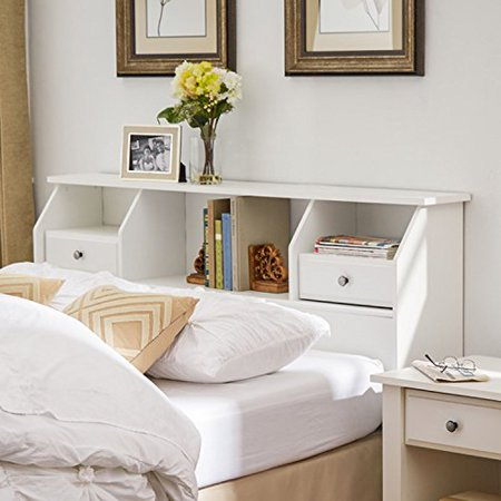 Headboard With Storage Queen Full Size Bookcase Drawers
