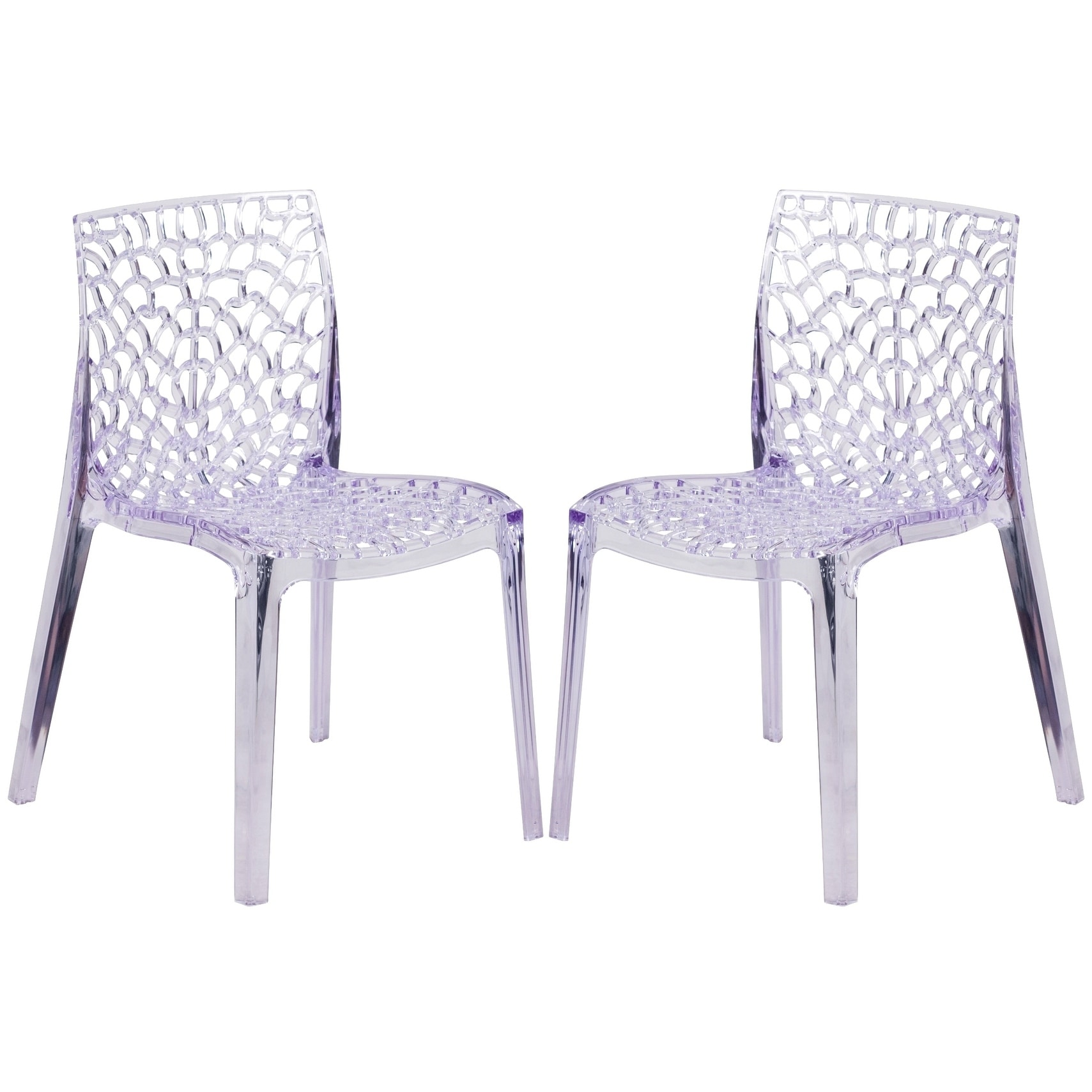 A Line Furniture Artistic Fluid Design Transparent Crystal Chair