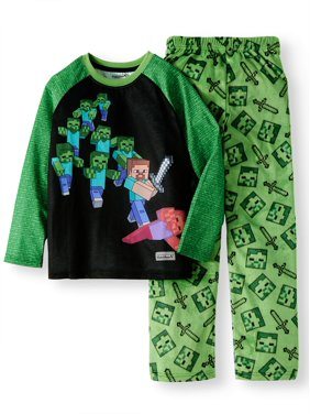 Minecraft Fleece 2 Piece Pajama Sleep Set (Little Boy & Big Boy)