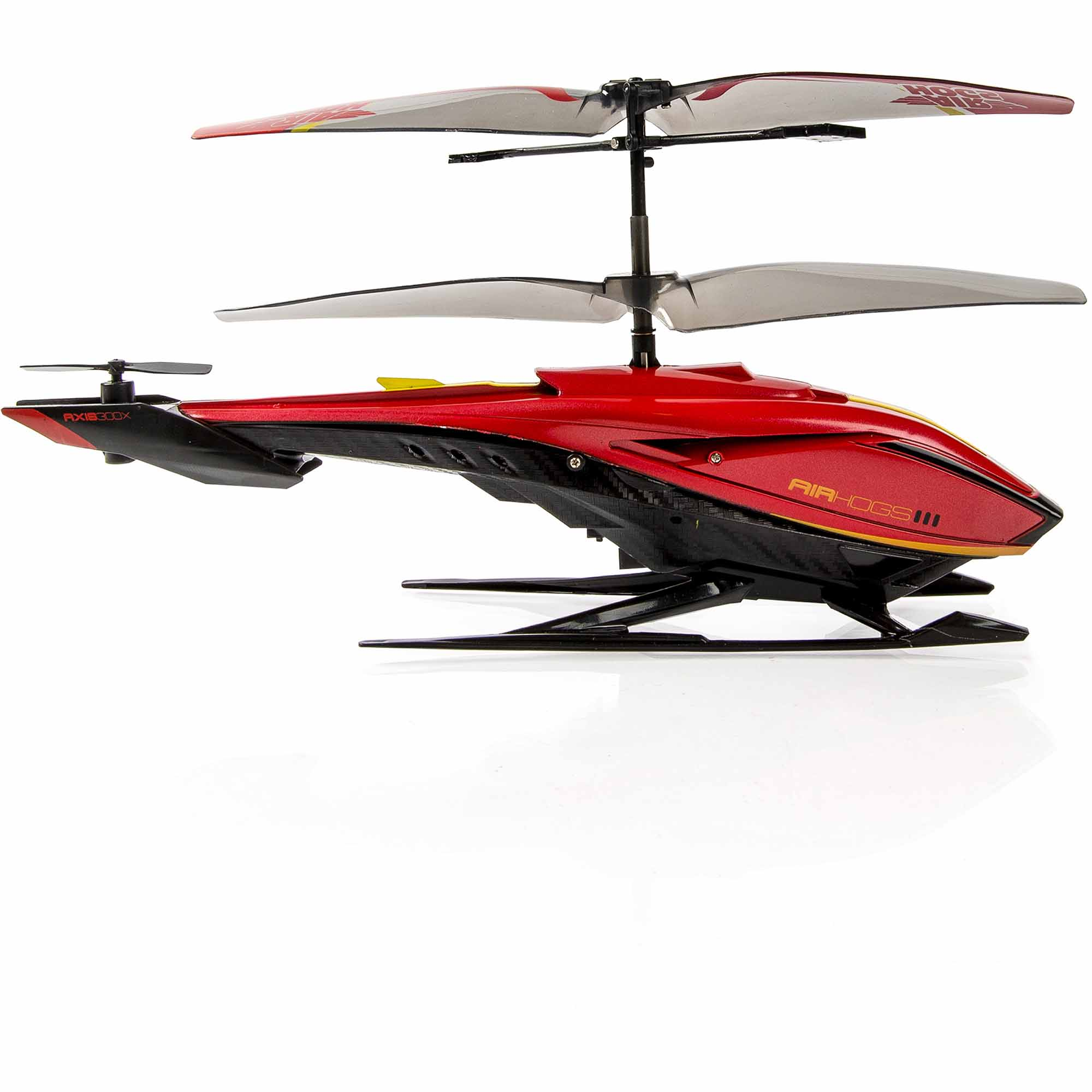 Air Hogs RC Axis 300X R C Helicopter Red & Silver Walmart