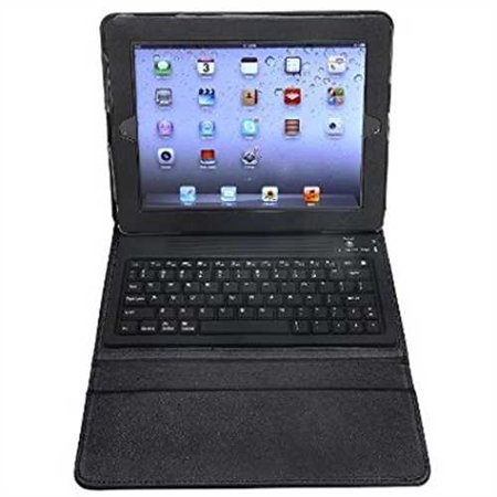 Refurbished Aduro Liqua Shield Folio Case With Bluetooth Keyboard For Apple Ipad 2  Ipad 3   Ipad 4 Generation  Retail Packaging  Black
