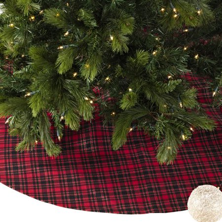 The Holiday Aisle Plaid Christmas Tree Skirt - Walmart.com