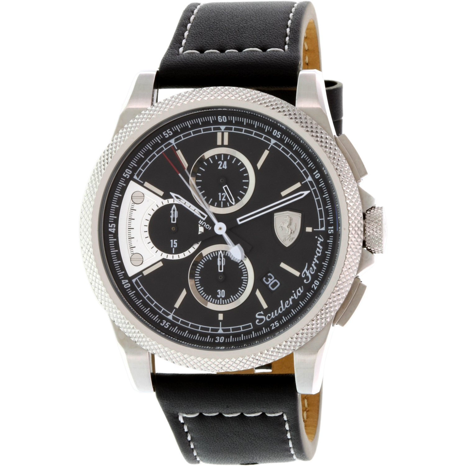 Ferrari Men's Formula Italia S 0830275 Black Leather Swiss Quartz Watch