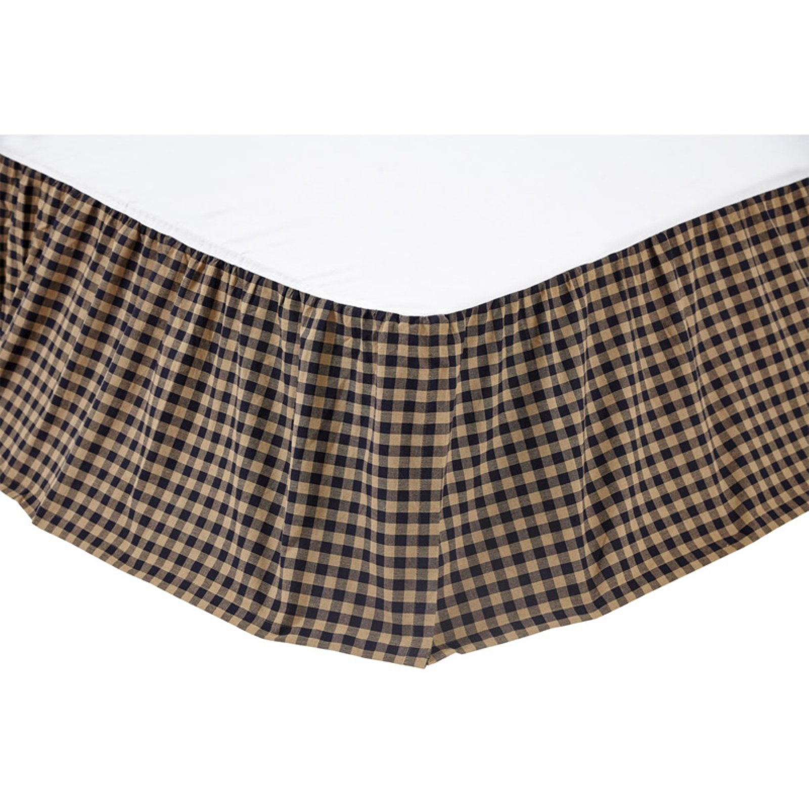 Navy Check Bedskirt by VHC Brands by Victorian Heart Company