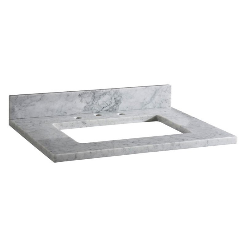 Xylem White Carrara Marble Vanity Top - 31 in.