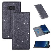Samsung Galaxy S8 Wallet Case, Dteck Bling Slim PU Leather Magnetic Flip Folio Stand Case Cover Built-in One Card Holder For Samsung Galaxy S8, Gray