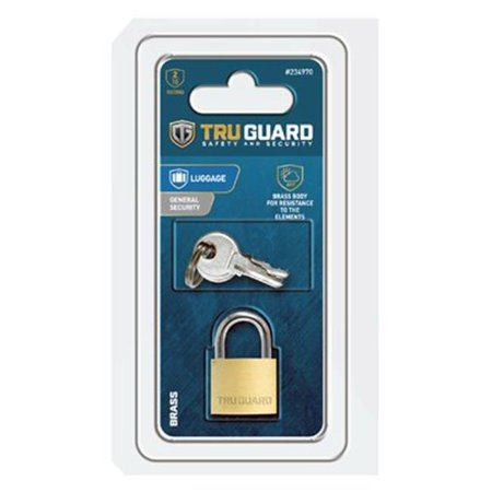 8a01c2c18aab Master Lock 234970 0.75 in. Tru Guard Solid Body Brass Padlock with Long  Steel Shackle
