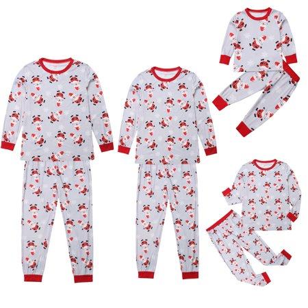9b5551b67 Cathery - Family Match Christmas Santa Pajamas Set Kid Mom Dad Xmas ...