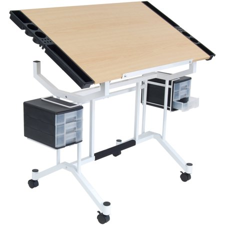 Studio Designs Pro Craft Station, White and Maple