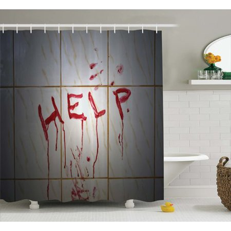 Ambesonne Bloody Help Note In Bathroom Shower Curtain