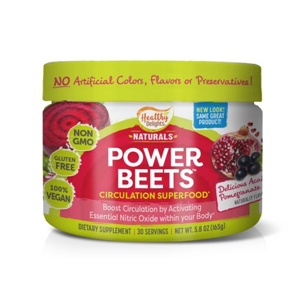 Healthy Delights Power Beets 165g Powder, Acai Pomegranate, 30 servings