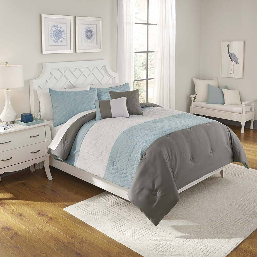 Better Homes and Gardens Color Block 5-Piece Bedding Set