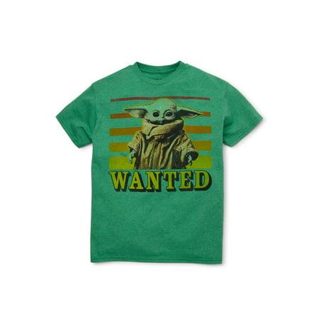 Star Wars - Star Wars Boys 4-18 Baby Yoda Wanted Graphic ...