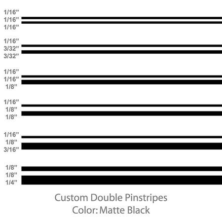 Pinstripes Car Graphics - Premium Double Pinstripes (Matte Black) Size: 1/8