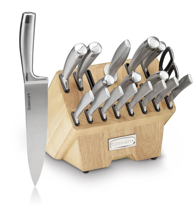 Cuisinart Classic® 19-Piece Normandy Collection Cutlery Knife Block Set, Stainless Steel
