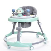 Baby Walker Anti Rollover Learning Walking Toy Car Free Installation for Baby 6-18 Months(24in-35in) Toy Monkey Green
