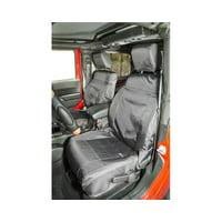 Rugged Ridge 13216.12 Seat Cover For Jeep Wrangler (JK), Black Solid Design