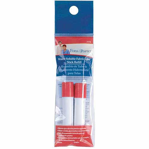Dritz Fons & Porter Water Soluble Fabric Glue Stick Refill, 2/pkg