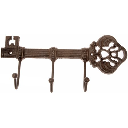 Mainstays Iron Finish Key Rack with 3 Hooks, Mounting Hardware Included