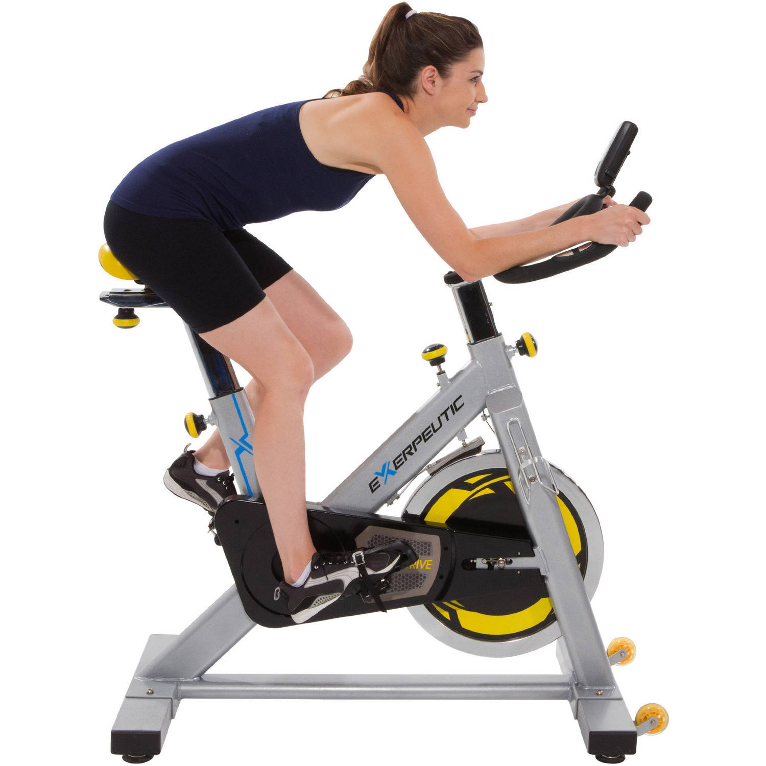 Exerpeutic LX905 Indoor Exercise Cycling Bike with Computer and Heart Pulse Sensors