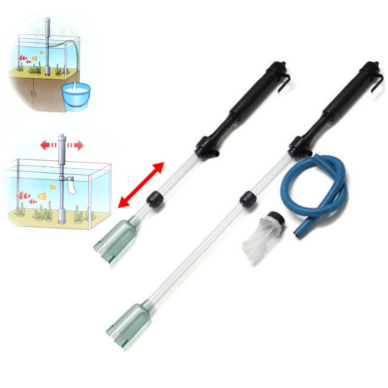 Aquarium Gravel Battery Fish Tank Auto Siphon Cleaner Pump Water Filter by