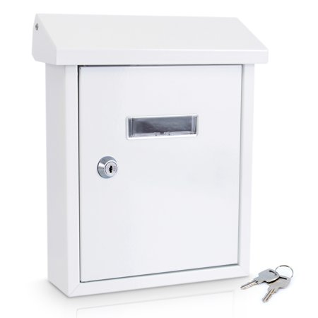 SereneLife SLMAB01 - Indoor/Outdoor Wall Mount Locking Mailbox ()