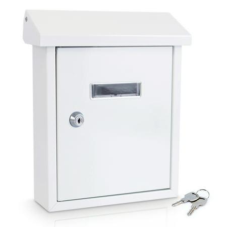 SereneLife SLMAB01 - Indoor/Outdoor Wall Mount Locking Mailbox Eagle Wall Mount Mailbox
