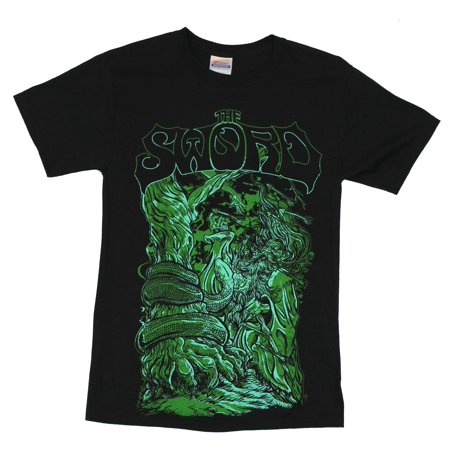 The Sword Mens T-Shirt  - Mage Fighting Serpent Image Sword S/s Tee